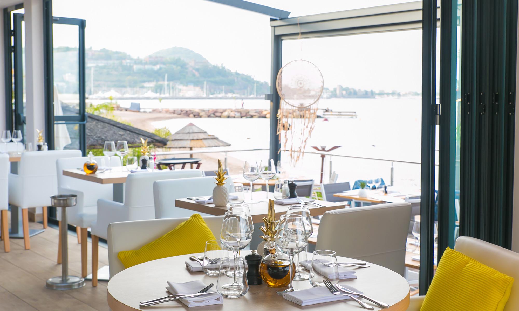 Plage Restaurant Theoule sur Mer